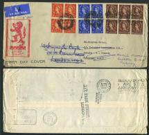 AIRMAIL 31 Aug 1953 From London To Trinidad / 7 Sept 53 Trinidad Postmark / 29 Sept 53 Paddington Postmark - 1952-.... (Elizabeth II)