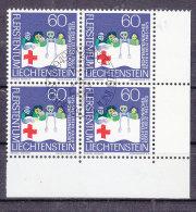 1975  N° 566    BLOC  DE 4  OBLITERES                    CATALOGUE ZUMSTEIN - Liechtenstein