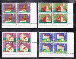 1975  N° 567 à 570    BLOCS  DE 4  OBLITERES                    CATALOGUE ZUMSTEIN - Liechtenstein