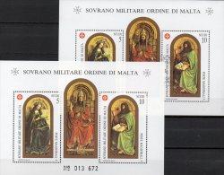 SMOM 1989 Gemälde San Giovanni Malteser Orden Block 27 **/ O 23€ Kunst Bf M/s Painting Bloc Art Sheet Of Ordre De Malte - Malta (Orde Van)
