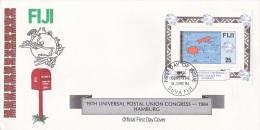 Fiji 1984 UPU Souvenir Sheet FDC - Fiji (1970-...)