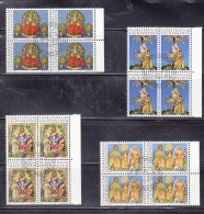 1976 N° 600 à 603   BLOCS  DE 4  OBLITERES                    CATALOGUE ZUMSTEIN - Liechtenstein
