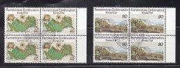 1977 N° 605 à 606   BLOCS  DE 4  OBLITERES                    CATALOGUE ZUMSTEIN - Liechtenstein