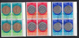 1977 N° 615 à 617   BLOCS  DE 4  OBLITERES                    CATALOGUE ZUMSTEIN - Liechtenstein