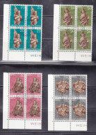 1977 N° 626 à 629   BLOCS  DE 4  OBLITERES                    CATALOGUE ZUMSTEIN - Liechtenstein