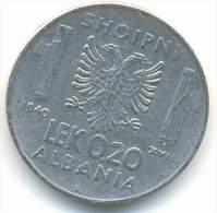ALBANIA , 0,20  LEK 1940 R - Albanie