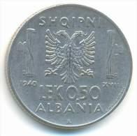 ALBANIA , 0,50  LEK 1940 R - Albania