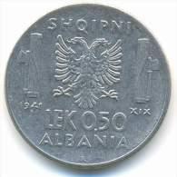 ALBANIA , 0,50  LEK 1941 R - Albania