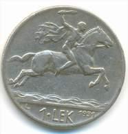 ALBANIA , 1  LEK 1931 L - Albanie