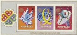 Aitutaki-1983 World Communication Year MS MNH - Aitutaki