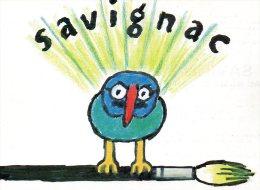 CPM Savignac - Carte Invitation Savignac Au Musée De L´Affiche 1982 - Savignac