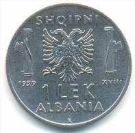 ALBANIA , 1  LEK 1939 R , HIGH GRADE - Albania