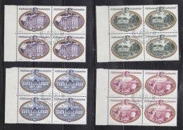 1977 N° 618 à 621     BLOCS  DE 4  OBLITERES                    CATALOGUE ZUMSTEIN - Liechtenstein