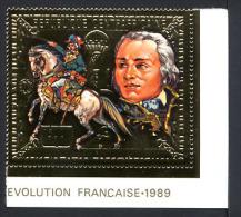 CENTRAFRIQUE 1989, PHILEXFRANCE, J-B JOURDAN, TIMBRE OR, Neuf / Mint. Rcen002 - Franz. Revolution