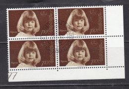 1977 N° 625     BLOC  DE 4  OBLITERES                    CATALOGUE ZUMSTEIN - Liechtenstein