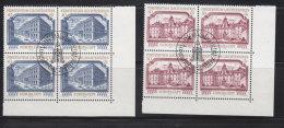 1978 N° 630 à 631     BLOCS  DE 4  OBLITERES                    CATALOGUE ZUMSTEIN - Liechtenstein