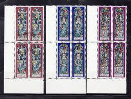 1978 N° 658 à 660     BLOCS  DE 4  OBLITERES                    CATALOGUE ZUMSTEIN - Liechtenstein