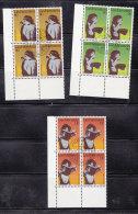 1979 N° 663 à 665     BLOCS  DE 4  OBLITERES                    CATALOGUE ZUMSTEIN - Liechtenstein