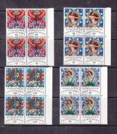 1978  N° 651 à 654     BLOCS  DE 4  OBLITERES                    CATALOGUE ZUMSTEIN - Liechtenstein