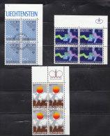 1979  N° 666 à 668     BLOCS  DE 4  OBLITERES                    CATALOGUE ZUMSTEIN - Liechtenstein