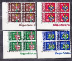 1980  N° 681 à 684     BLOCS  DE 4  OBLITERES                    CATALOGUE ZUMSTEIN - Liechtenstein