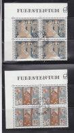 1979  N° 676 à 678     BLOCS  DE 4  OBLITERES                    CATALOGUE ZUMSTEIN - Liechtenstein