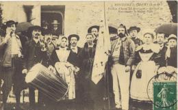 ( 78 ) -CPA 3 Montfort Lamaury-Pardon D'Anne De Bretagne . Groupe De Bretons Sur Le Menez Tour. écrite 1910 - Montfort L'Amaury