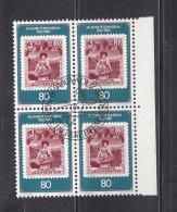 1980  N° 688     BLOC  DE 4  OBLITERES                    CATALOGUE ZUMSTEIN - Liechtenstein