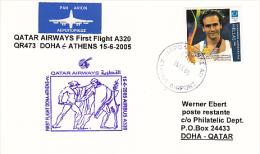 Erstflug - Qatar Airways - Athens / Greece - Doha / Qatar - 15.06.2005 [dt31a] - Qatar