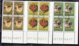 1980  N° 685 à 687     BLOCS  DE 4  OBLITERES                    CATALOGUE ZUMSTEIN - Liechtenstein