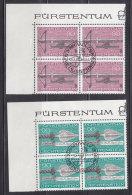 1980  N° 689 à 691     BLOCS  DE 4  OBLITERES                    CATALOGUE ZUMSTEIN - Liechtenstein