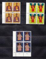 1968  N° 421-431-432     BLOCS  DE 4  OBLITERES                    CATALOGUE ZUMSTEIN - Liechtenstein
