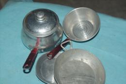 CUISINE DINETTE MAISON De POUPEE / Lot CASSEROLES TOLE ALUMINIUM  Années 50/60 - Toy Memorabilia