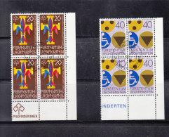 1981  N° 712-713     BLOCS  DE 4  OBLITERES                    CATALOGUE ZUMSTEIN - Liechtenstein