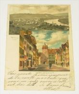 Waldshut - Gesammtansicht Vom Haspel Aus Und Hauptstrasse Und Unteres Thor - Waldshut-Tiengen