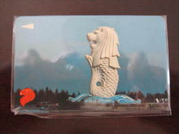 GPT Magnetic Phonecard,SIN-9A Merlion, Error CN: 9SGIA,used(the Right CN Should Be 9SIGA) - Singapour