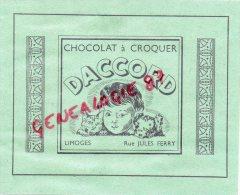 87 - LIMOGES - PUBLICITE  CARTONNEE CHOCOLAT DACCORD - RUE JULES FERRY - FOIRE EXPO 1949-  MODES DU CHAT NOIR MARY RICCI - Publicités