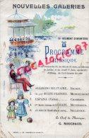 87 - LIMOGES - PROGRAMME MUSIQUE 78 E REGIMENT INFANTERIE- NOUVELLES GALERIES CHAMP JUILLET G. ROUCHAUD - Programs