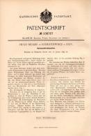 Original Patentschrift - H. Müller In Exin / Kcynia , 1899 , Sack - Ausbürstmaschine , Rzemieneiwiece !!! - Maschinen