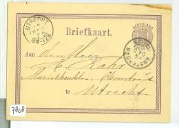 HANDGESCHREVEN BRIEFKAART Uit 1875 Van AMSTERDAM Naar UTRECHT * VOORDRUK NVPH Nr. 18 (7808) - Postal Stationery