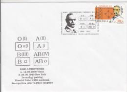 KARL LANDSTEINER, NOBEL PRIZE IN MEDICINE, BLOOD TYPES, SPECIAL COVER, 2000, ROMANIA - Nobel Prize Laureates
