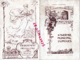 87 - LIMOGES - PROGRAMME THEATRE MUNICIPAL DIR. CAZAUTETS SAISON 1920-1921- MIREILLE DE GOUNOD - Programs