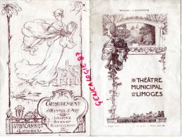 87 - LIMOGES - PROGRAMME THEATRE MUNICIPAL DIR. CAZAUTETS SAISON 1920-1921- MIREILLE DE GOUNOD - Programmes