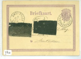 HANDGESCHREVEN BRIEFKAART Uit 1876 Van 's-GRAVENHAGE Naar AMSTERDAM * VOORDRUK NVPH Nr. 18 (7810) - Postal Stationery