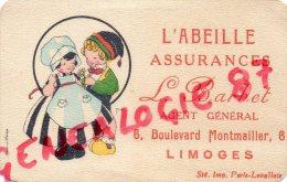 87 - LIMOGES - CARTE PUBLICITAIRE L' ABEILLE ASSURANCES L. BARBET 6 BD MONTMAILLER - Publicités