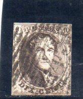 BELGIQUE 1858-61 YV. NR. 10 O SANS FILIGRANE - 1858-1862 Medallions (9/12)