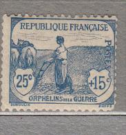 FRANCE 1917 Agriculture Woman Plowing Semi Postal Yv 151 Mi 131 Sc B6 Mint (*) #15773 - Neufs