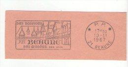 Flamme De BEAUNE 1967 - Hospices Musées Et Vins - Postmark Collection (Covers)
