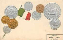 210507-Mexico Coins, Embossed Postcard, UDB, J.C.S. - Munten (afbeeldingen)