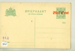 2 X ONBESCHREVEN BRIEFKAART *  VOORDRUK + OPDRUK  (7845) BRIEFKAART + BETAALD ANTWOORD - Periode 1891-1948 (Wilhelmina)